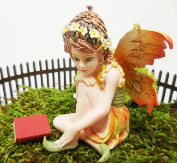 Fairy Figurine Tink Miniature Fairy Girl By TinkerTreasuresMinis