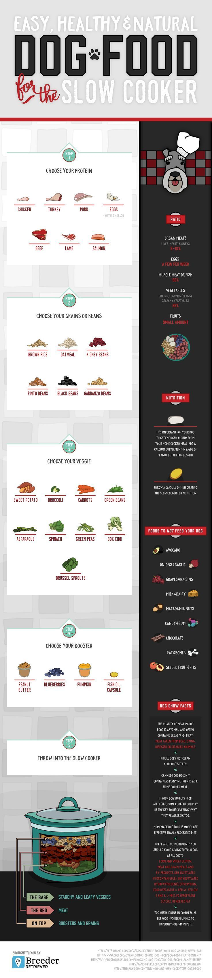 homemade dog food recipes for the slow cooker. Easy, healthy and natural dog…