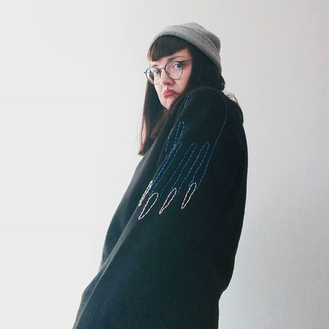 Upcycled handembroidered sweater from Pimped Rägs