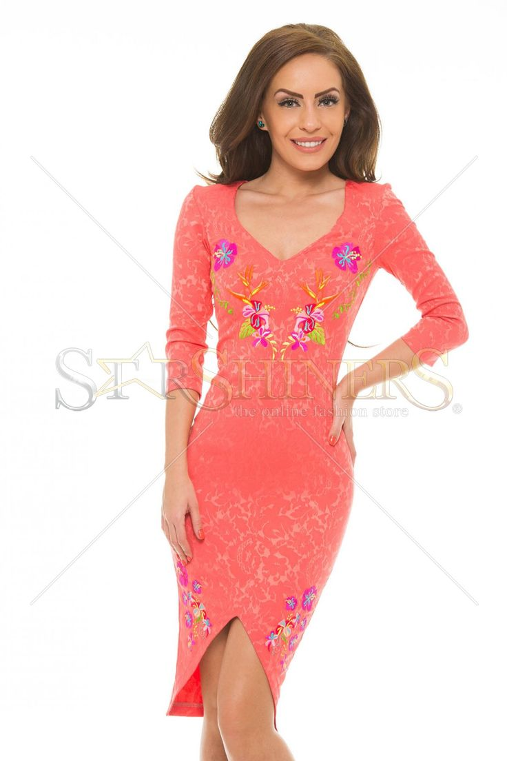 StarShinerS Brodata Tahiti Coral Dress