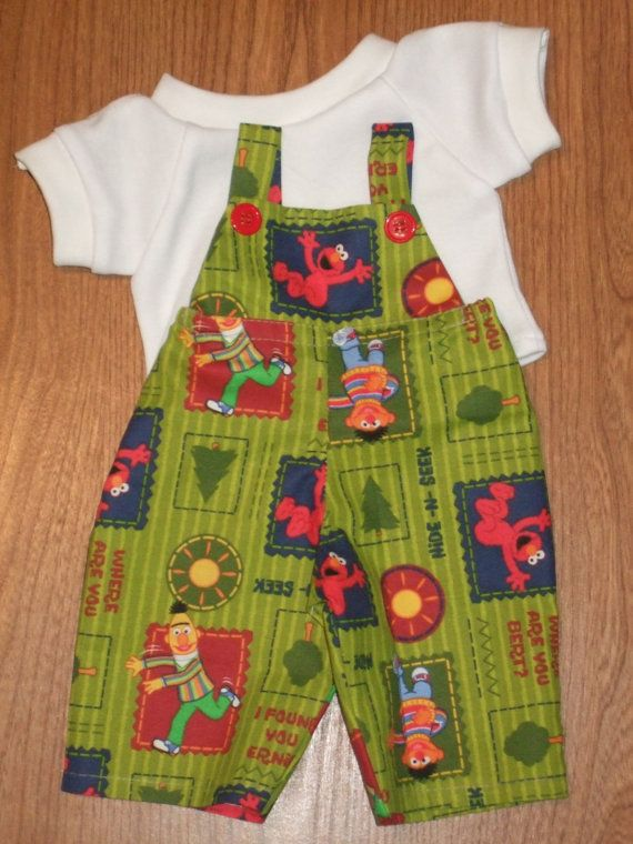 OOAK NEW Cabbage Patch Kids Boys Doll Clothes 16 Elmo