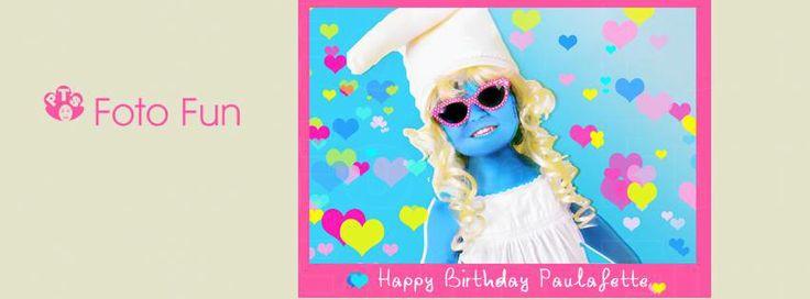 Paula´s Smurf party, invite