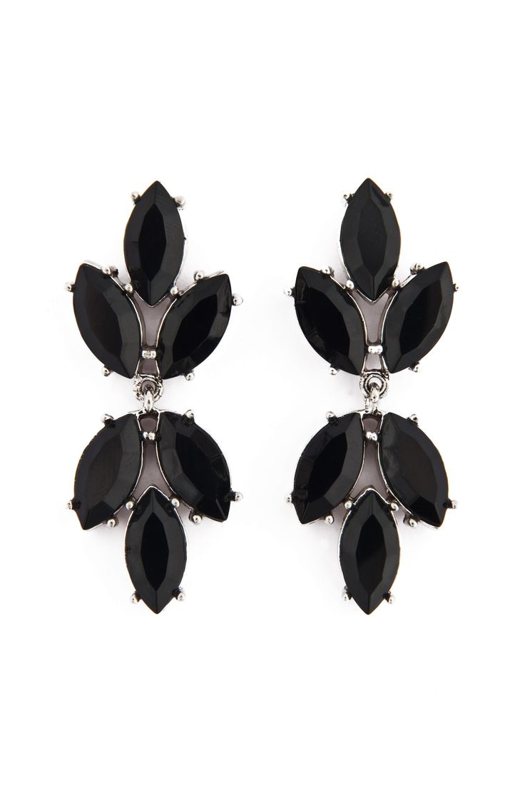 Black Spade Earrings by Badgley Mischka $120