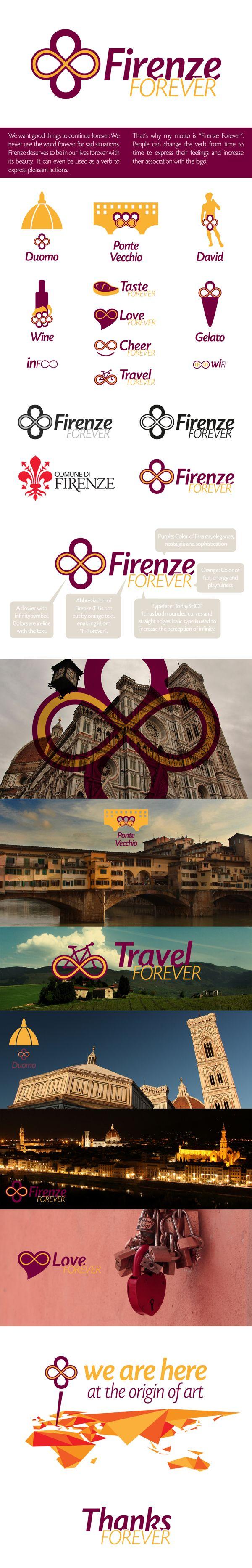 Firenze Forever / City Branding by Utku Civelek, via Behance