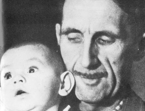 year 1945 description george orwell and his son richard george