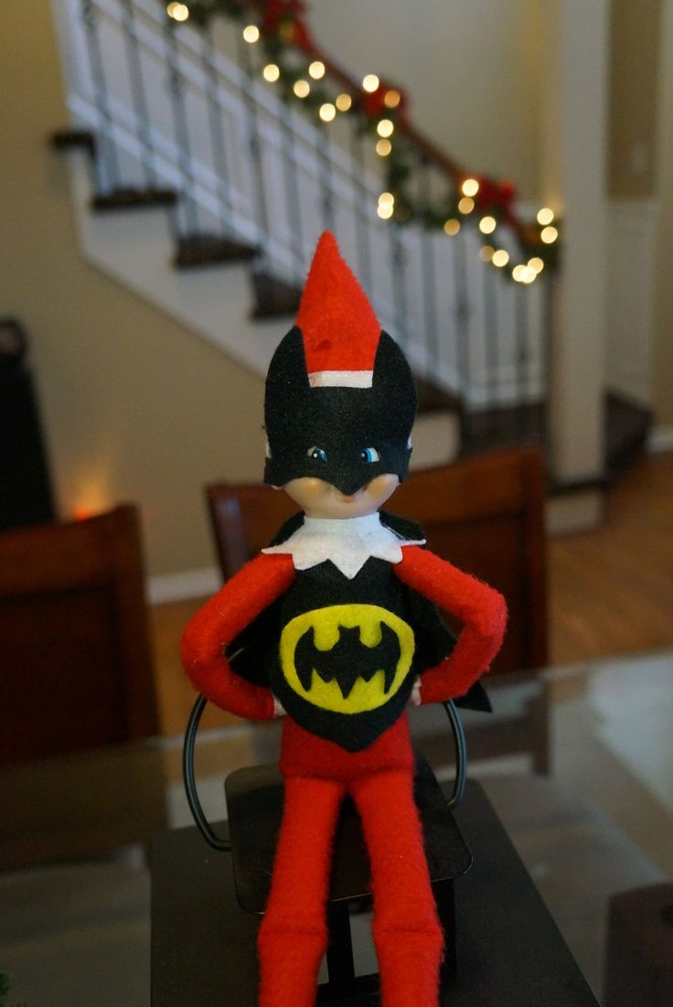 Batman Elf On The Shelf Elf On The Shelf Ideas Elf On