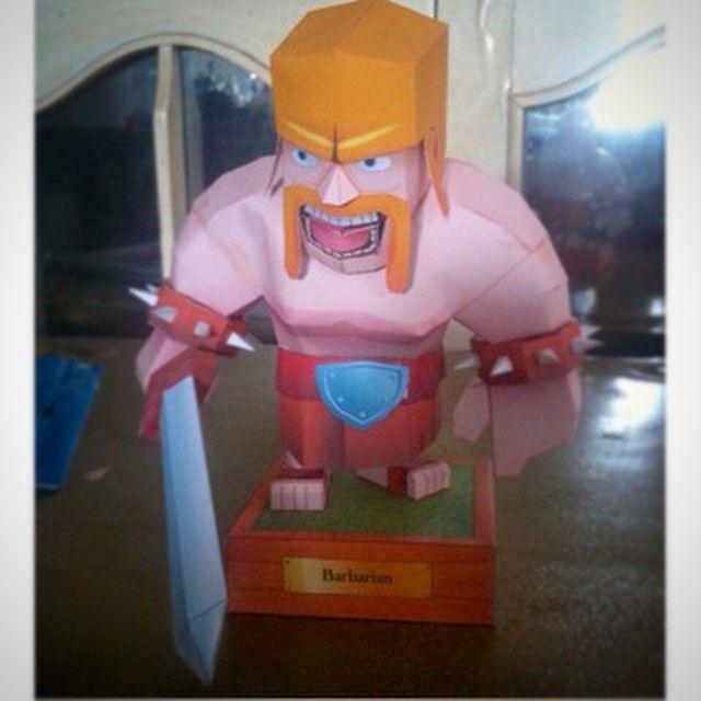 Barbarian Clash of Clans . #paper #prakarya #papercraft #kerajinan #kertas #karton #DIY #COC #clashofclans