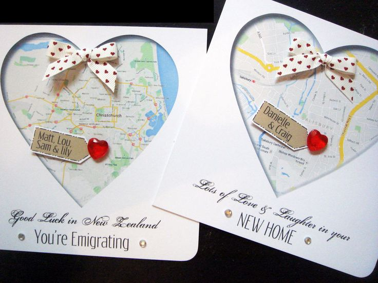 Ordinary Card Making Ideas For Moving House Part - 7: Handmade Personalisedu0027 New Home / Emigratingu0027 MAP Cards