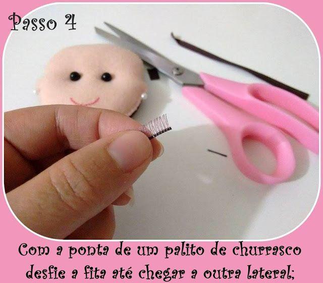 ARTE COM QUIANE - Paps,Moldes,E.V.A,Feltro,Costuras,Fofuchas 3D: PAP: Como fazer cílios com fita de cetim na boneca