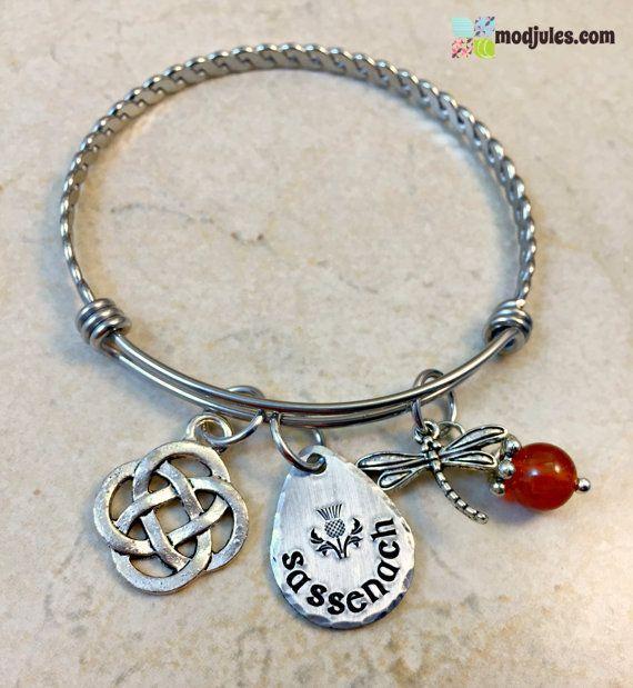 Outlander Sassenach Bangle Bracelet Sassenach Jewelry by ModJules