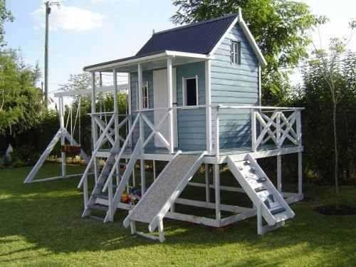 Casas de madera para ni os precios buscar con google for Kidkraft casa moderna de madera para exteriores 00182