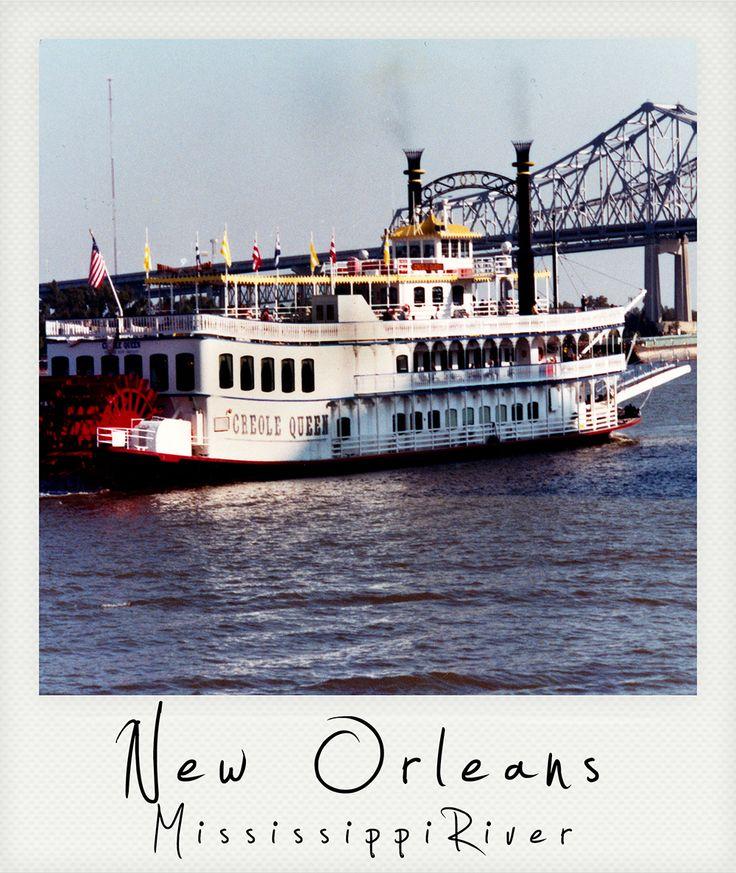 Polaroid New Orleans Mississippi River