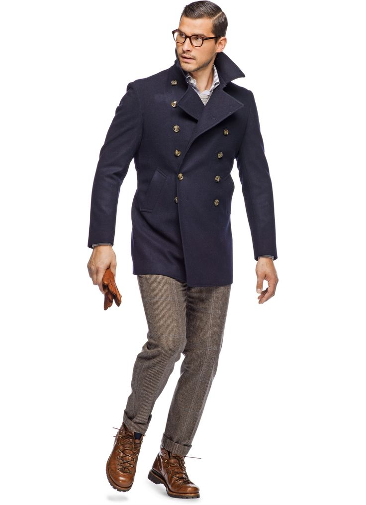 43 best Men's Peacoat Style images on Pinterest