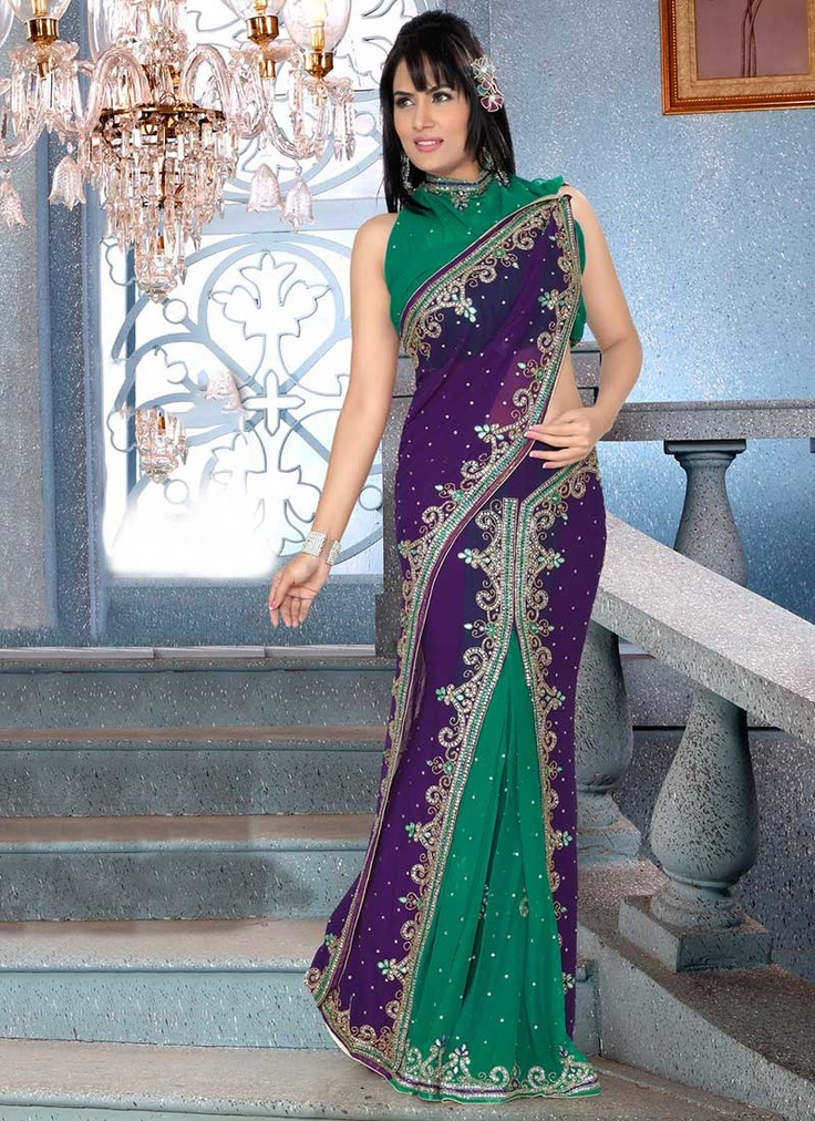 Beguiling Georgette Ready Pleated Saree
