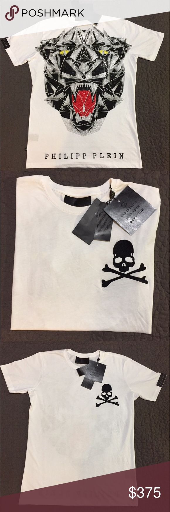Philipp Plein T-shirt Philipp Plein angry eyes tiger T-shirt. Sold out online! It's brand new with tags! Philipp Plein Shirts Tees - Short Sleeve