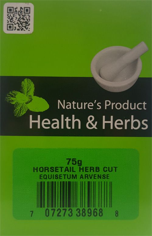 Natures Product  Health & Herbs  Horsetail Herb Cut 75g Equisetum Arvense