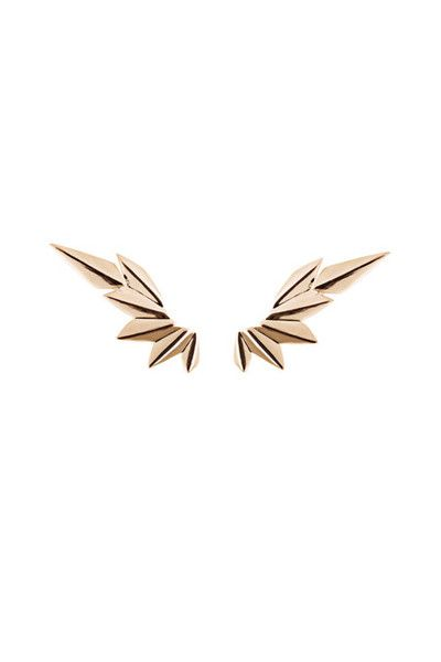 I want these rose gold earrings so badly... *cries over price of single eating let alone both*