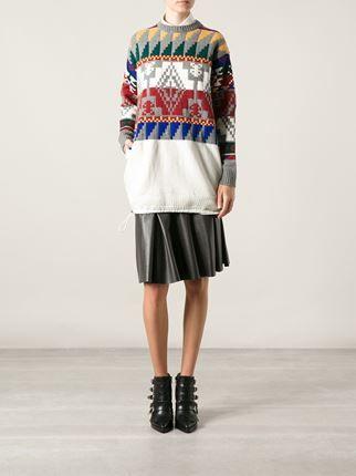 Sacai Suéter Com Padronagem Asteca - L'eclaireur - Farfetch.com