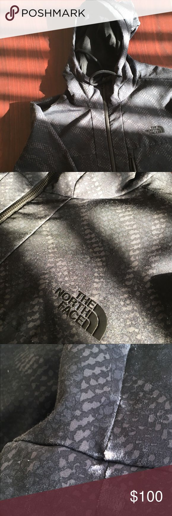 Black north face windbreaker Black digital camo print wind breaker by the northface  Good condition. A little fade at the bottom. Not noticeable.   Fits perfect to size.   Willing to negotiate offer. The North Face Jackets & Coats Windbreakers