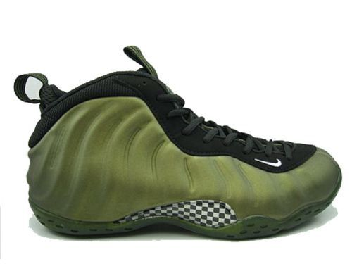 Nike Air Foamposite One Green Black Nikes on sale-- great prices
