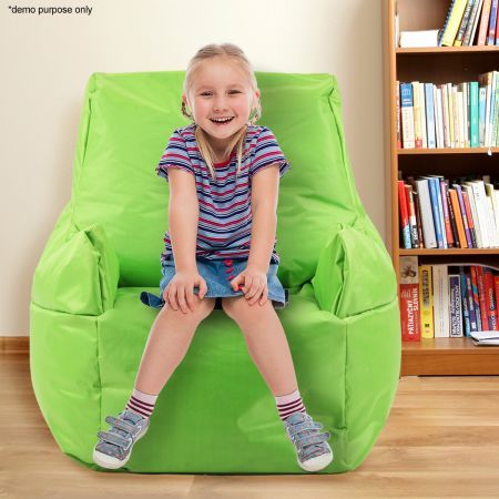 Green Bean Bag Sofa Cover - Save 75% - Ideal for Both Indoors and Outdoors.