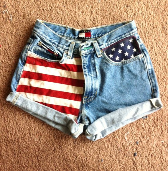 american flag shorts diy