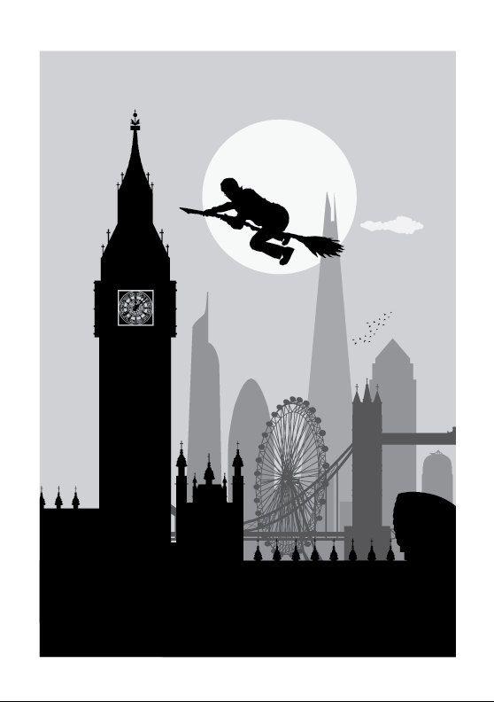 Harry Potter print // The London fly // Harry by SKYWORLDPROJECT