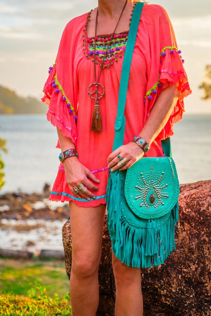 Bags to love! Turquoise Fringe Boho Bag
