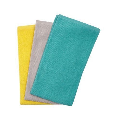 I'm shopping Set of three multicoloured hand towels in the Debenhams iPhone app.