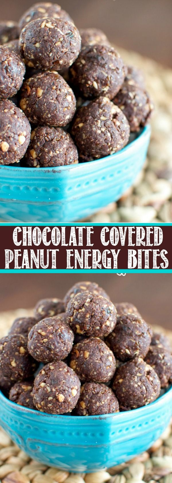 Chocolate Covered Peanut Energy Bites are a simple, no bake snack that satisfy your hunger and your sweet tooth in a healthy, delicious way!!
