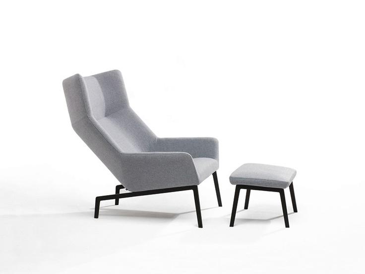 Upholstered Armchair With Footstool Park Park Collection