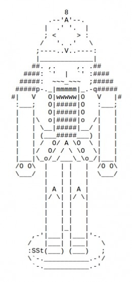 The Christmas Nutcracker in ASCII Art
