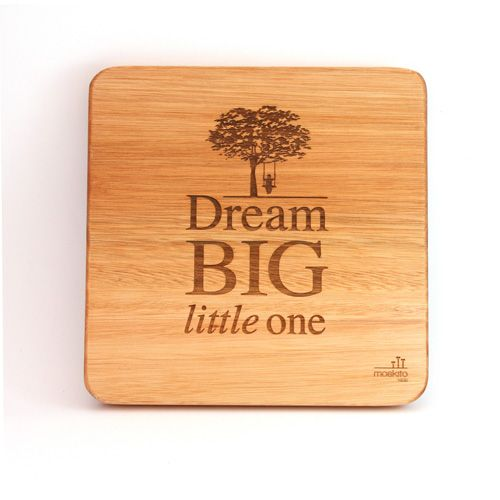 """""""Dream big little one"""". Inspiring words depicted by a lovely, calming design for a nursery or a kid's room."""
