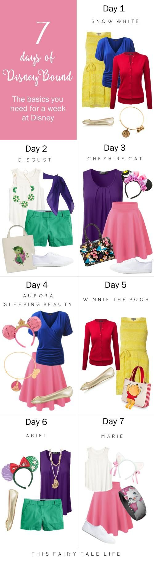 7 Days of DisneyBounding Shopping List