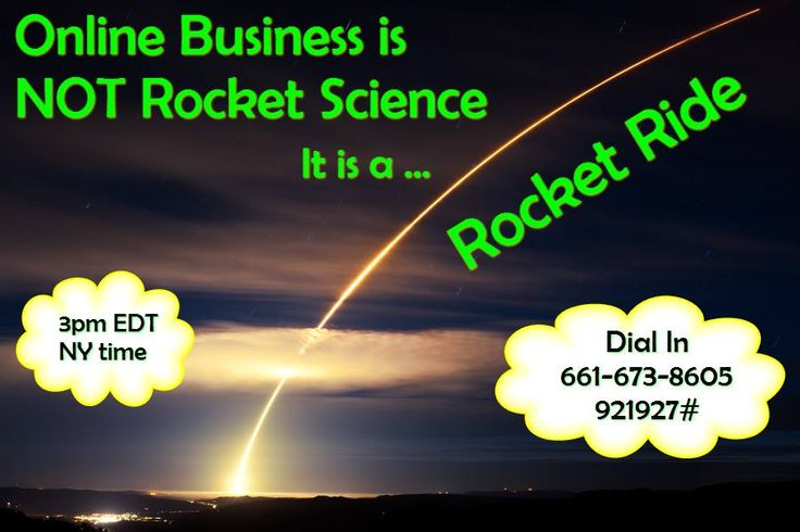 How do you differentiate between Rocket Science and the Rocket Ride of running an online business, to enjoy the journey?  Online Marketing is really not Rocket Science, it is a Rocket Ride! Find out what that means from Ellie Walsh & Carol Makowski, on today's Super Women Connection Daily Teleseminar.  I am excited for the call!!