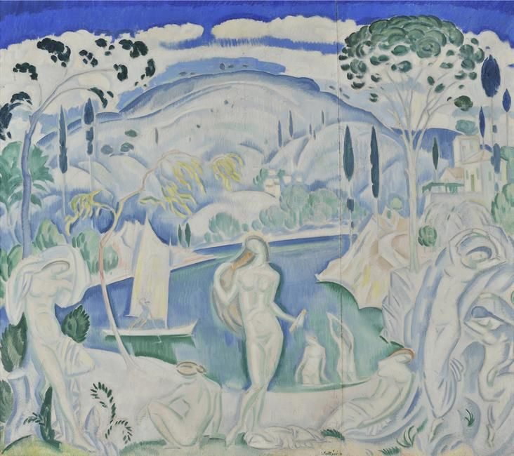 Bathers, c. 1919 - Konstantinos Parthenis (1878–1967)