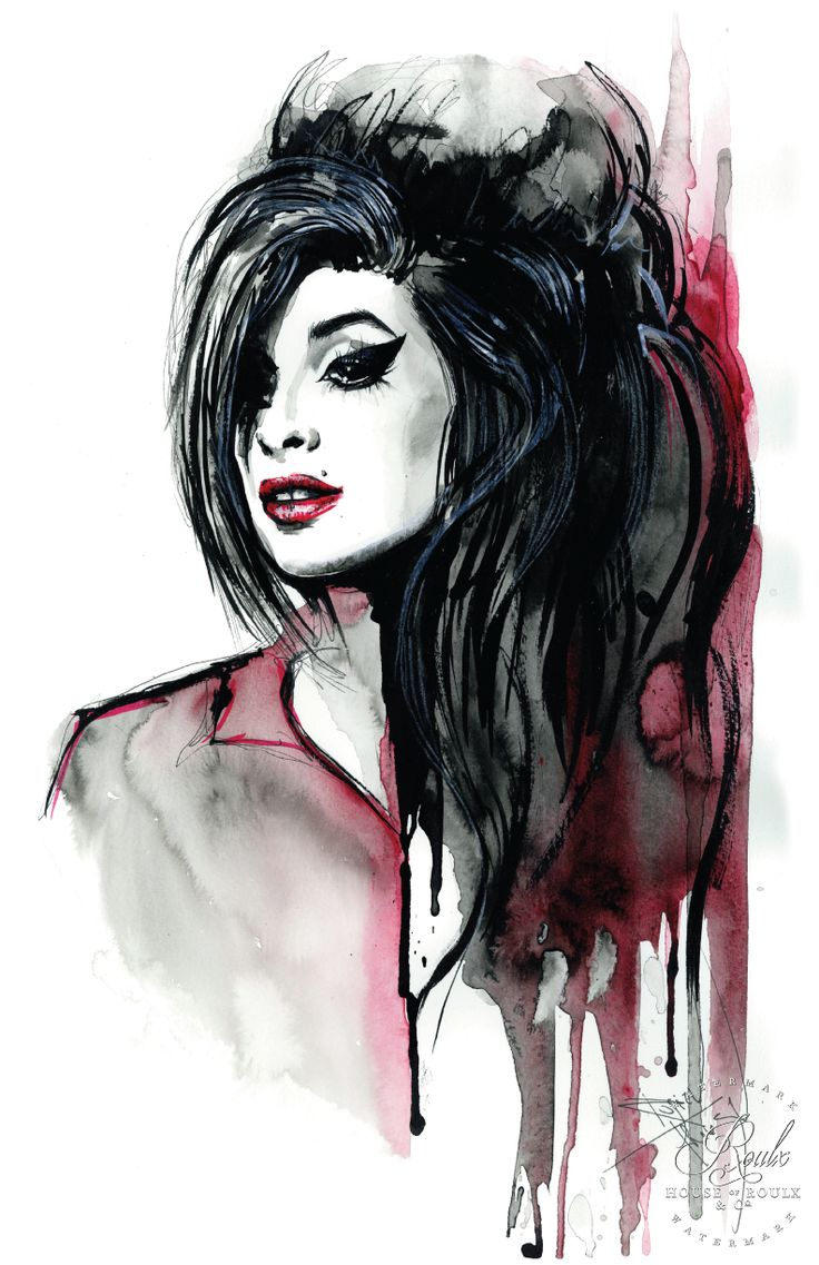 """""""Amy Winehouse"""" by Therése Rosier - Limited Edition, Fine Art Print"""