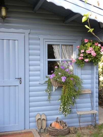 very posh shed add decorative fascia around roof doors and window