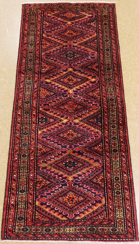 Persian Hamedan Tribal Hand Knotted Wool Navy Red Oriental Rug Runner 4 X 9 4 Persianhamedantribalgeometric Red Oriental Rug Oriental Rug Runners Oriental Rug