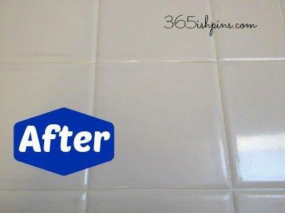 blanquear la lechada del azulejo con vinagre