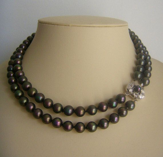 Tahitian pearl necklace the artificial silver Spain от ODMIVINTAGE