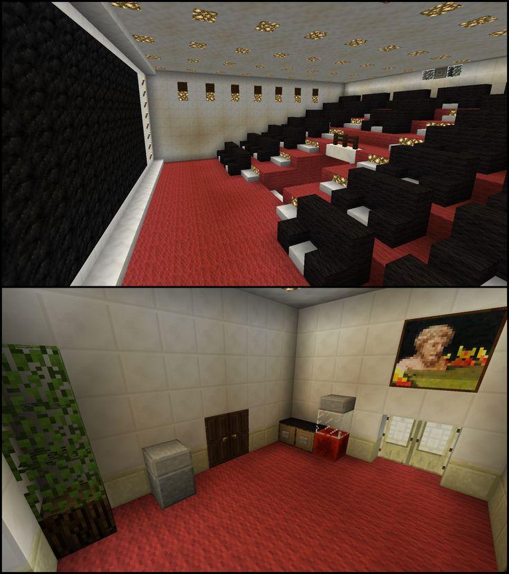 Minecraft Movie Theater Cinema