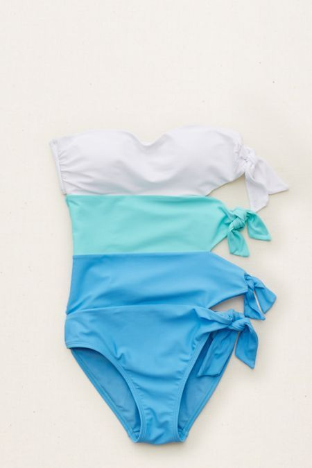 Aerie Ties One-Piece Swimsuit , Brilliant Blue | Aerie for American Eagle