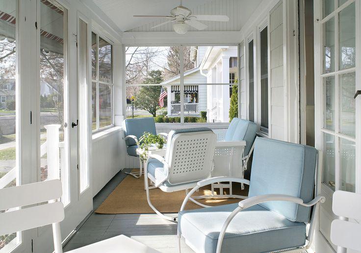 Impressive-porch-glider-in-Porch-Beach-Style-with-Sunroom-Deck-next-to-Carport-To-Sunroom-Patio-alongside-Retro-Exhaust-Fan-andCeiling-Fan-Conservatory-Sunroom-.jpg (990×694)