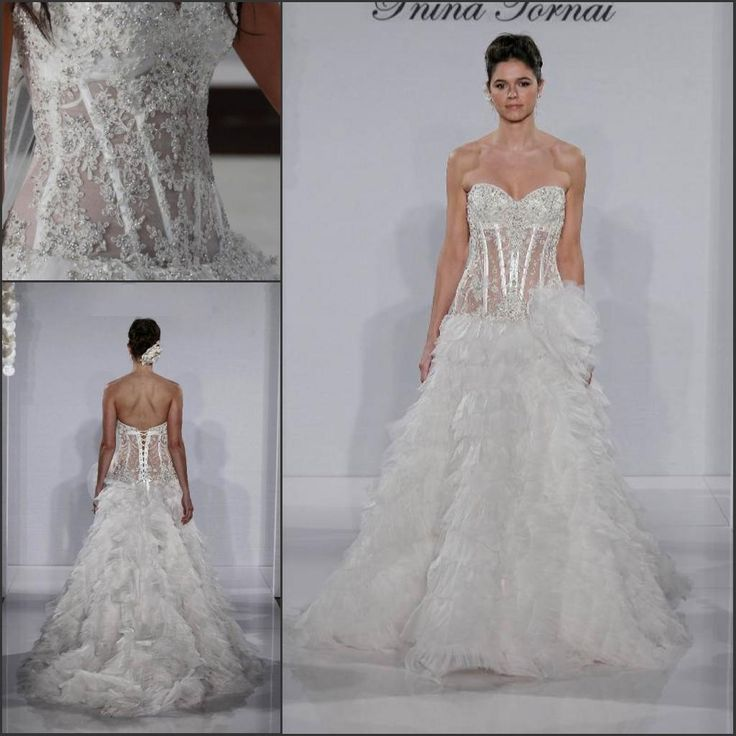 Whole Sweetheart Y Pninatornai Gown Beaded Lace See Through Corset Bodice Tulle A