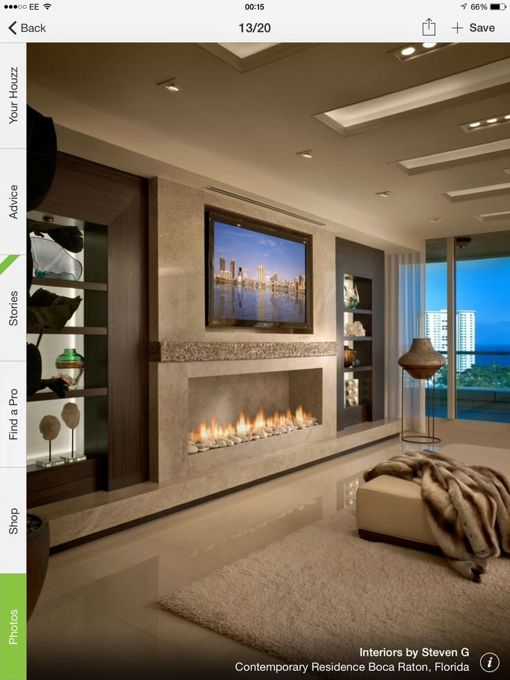 Beautiful Room With A Linear Fireplace. Contemporary Residence Boca Raton,  Florida   Contemporary   Living Room   Miami   Interiors By Steven G