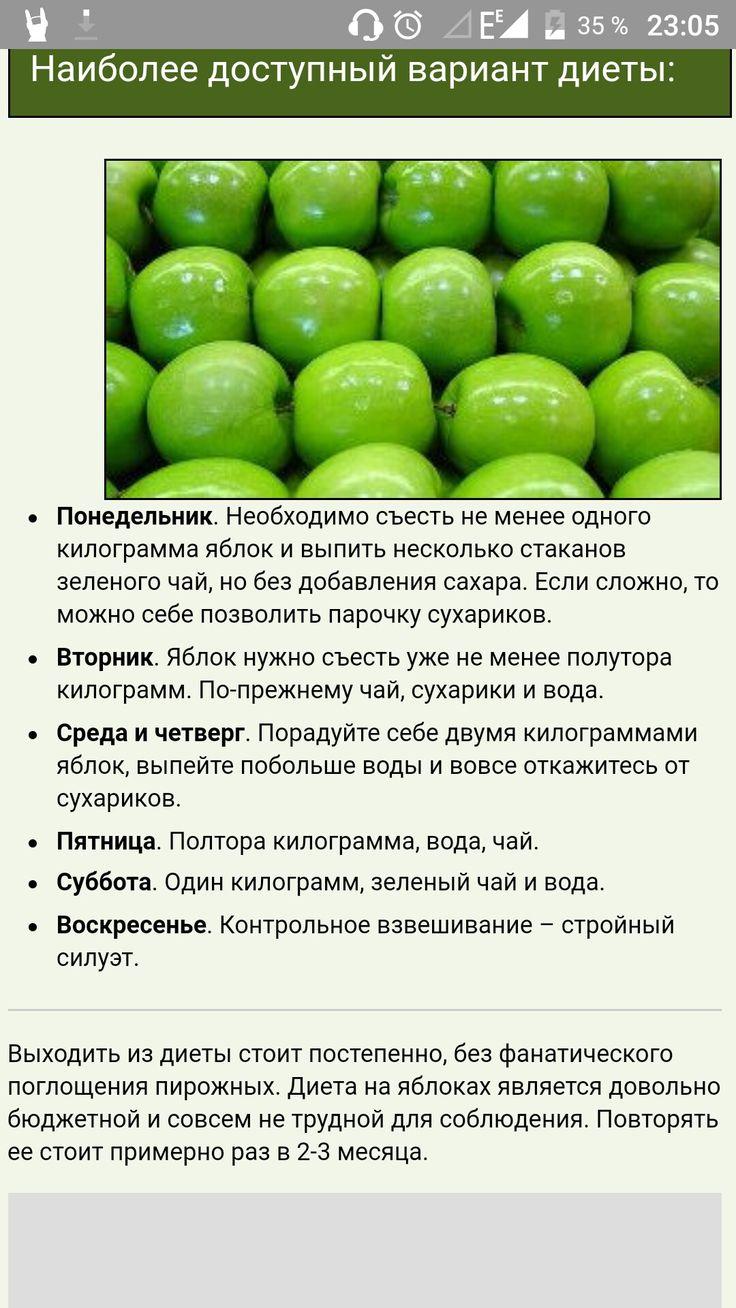 Отзывы яблочную диету