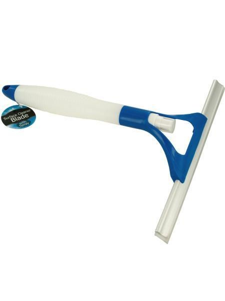 Window Squeegee with Built-In Spray Bottle