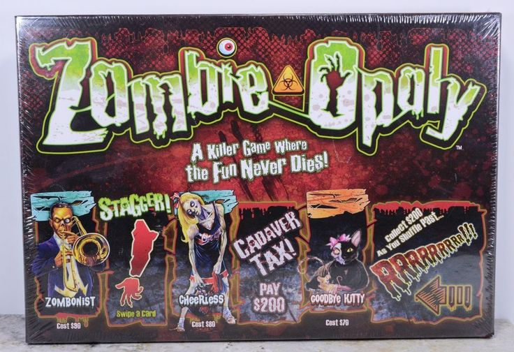 Zombie-opoly Zombiopoly Board Game Living Dead Walking Dead Late For the Sky NEW #LatefortheSky