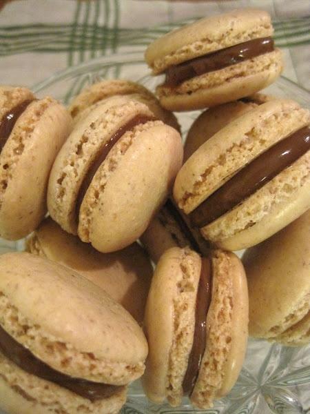 macarons de avelãs com doce de leite